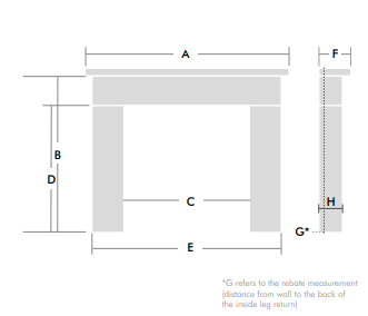 Mantel Dimensions Diagram
