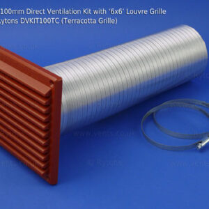 dvkit100_rytons_100mm_direct_ventilation_kit_with_lv103_louvre_grille_terracotta