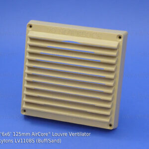 lv110_rytons_6x6_125mm_aircore_louvre_ventilator_buffsand
