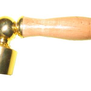 Evergreen wood brass handle