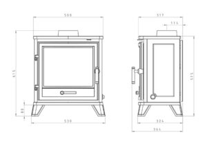 Barrington Gas Stove Dimensions